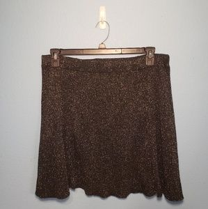 Xhilaration Mini Silver Sparkle Skirt